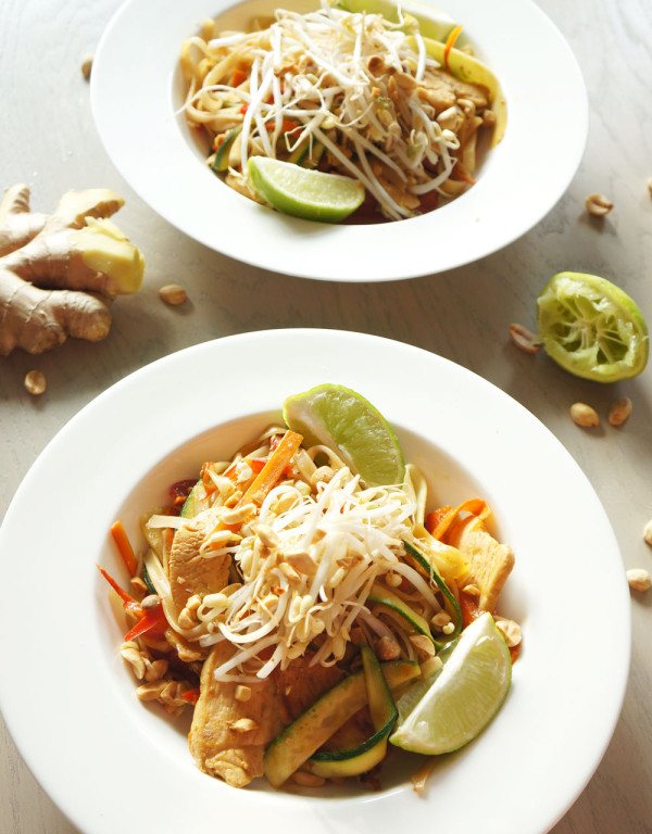 Lite and healthy pad thai follow the ruels for Healthy chicken pad thai