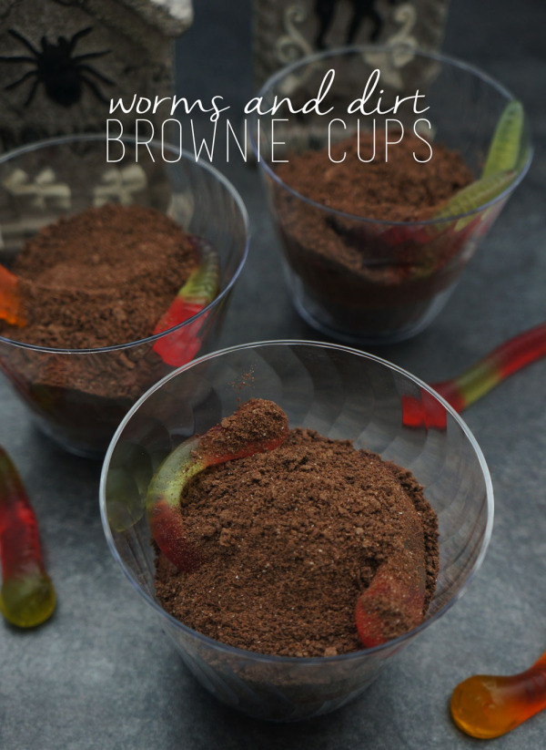 Worms and Dirt Brownie Cups