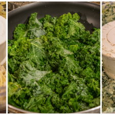 Lightened Up Kale Artichoke Dip