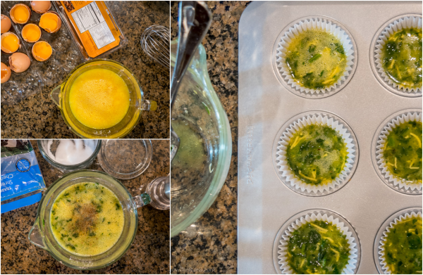Spinach and Cheese Egg Muffin