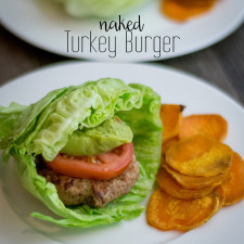 Naked Turkey Burger