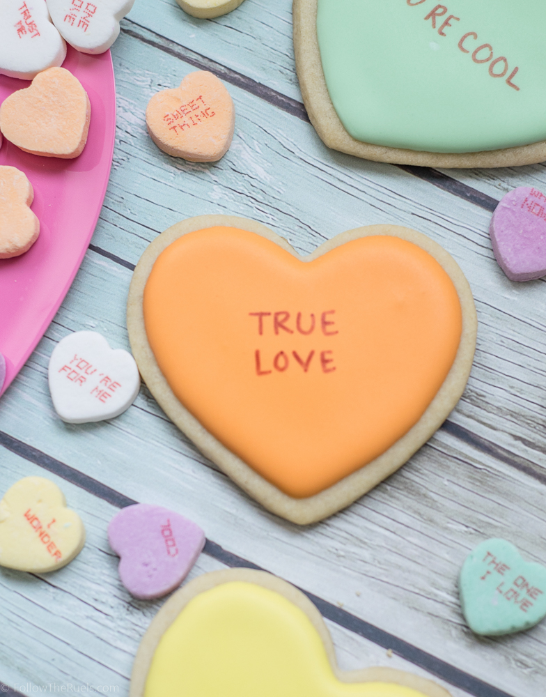 Conversation Heart Cookies-11