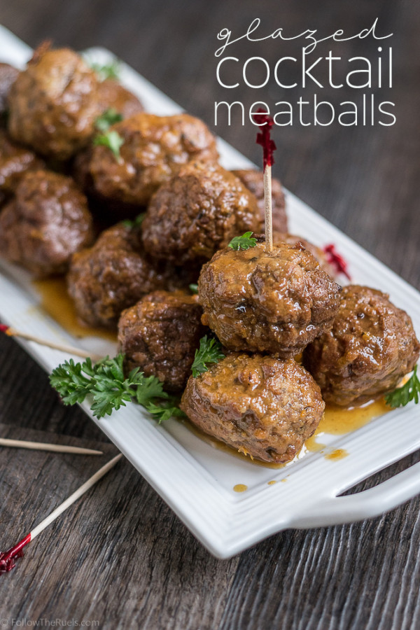 Glazed Cocktail Meatballs | Follow the Ruels