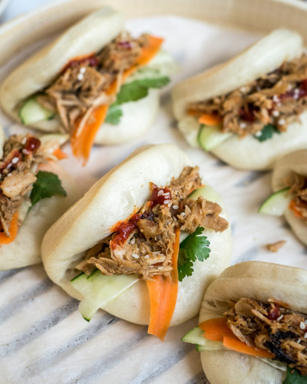 Chinese Pulled Pork Steamed Buns