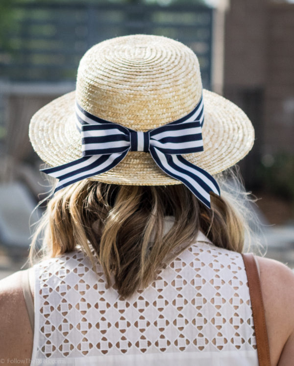 DIY Striped Bow Hat