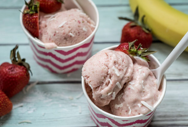 Easy no churn strawberry ice cream!