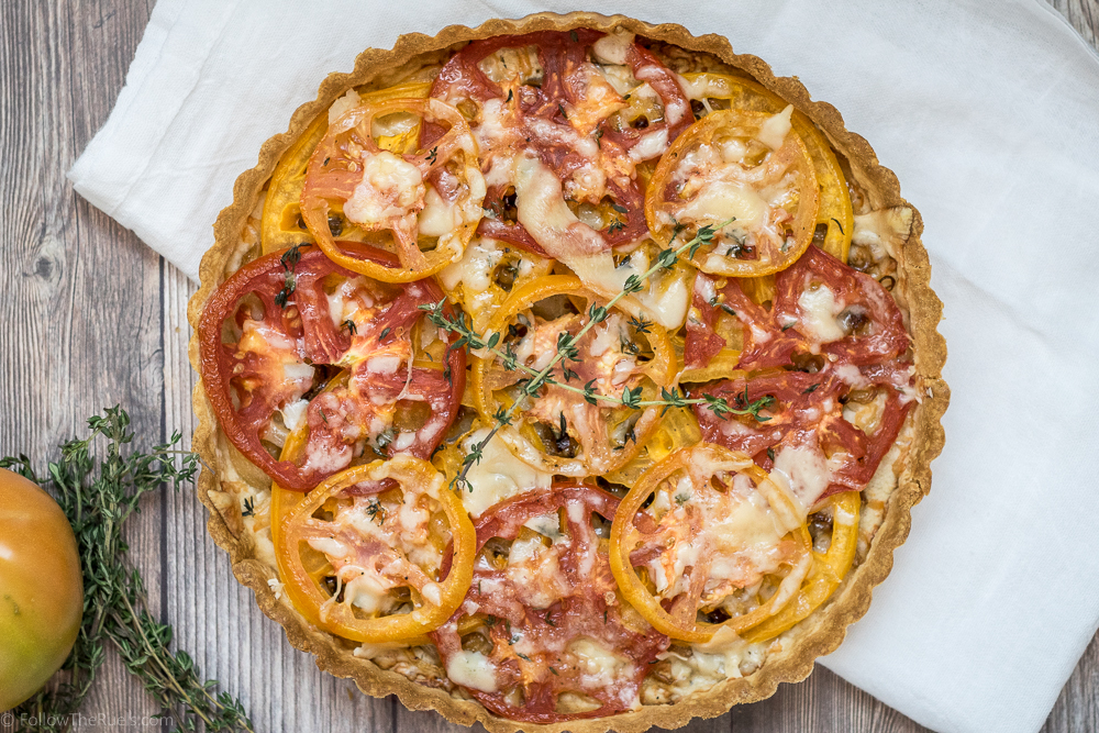 Tomato Tart with Gruyere and Thyme