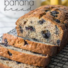 Brown Butter Blueberry Banana Bread