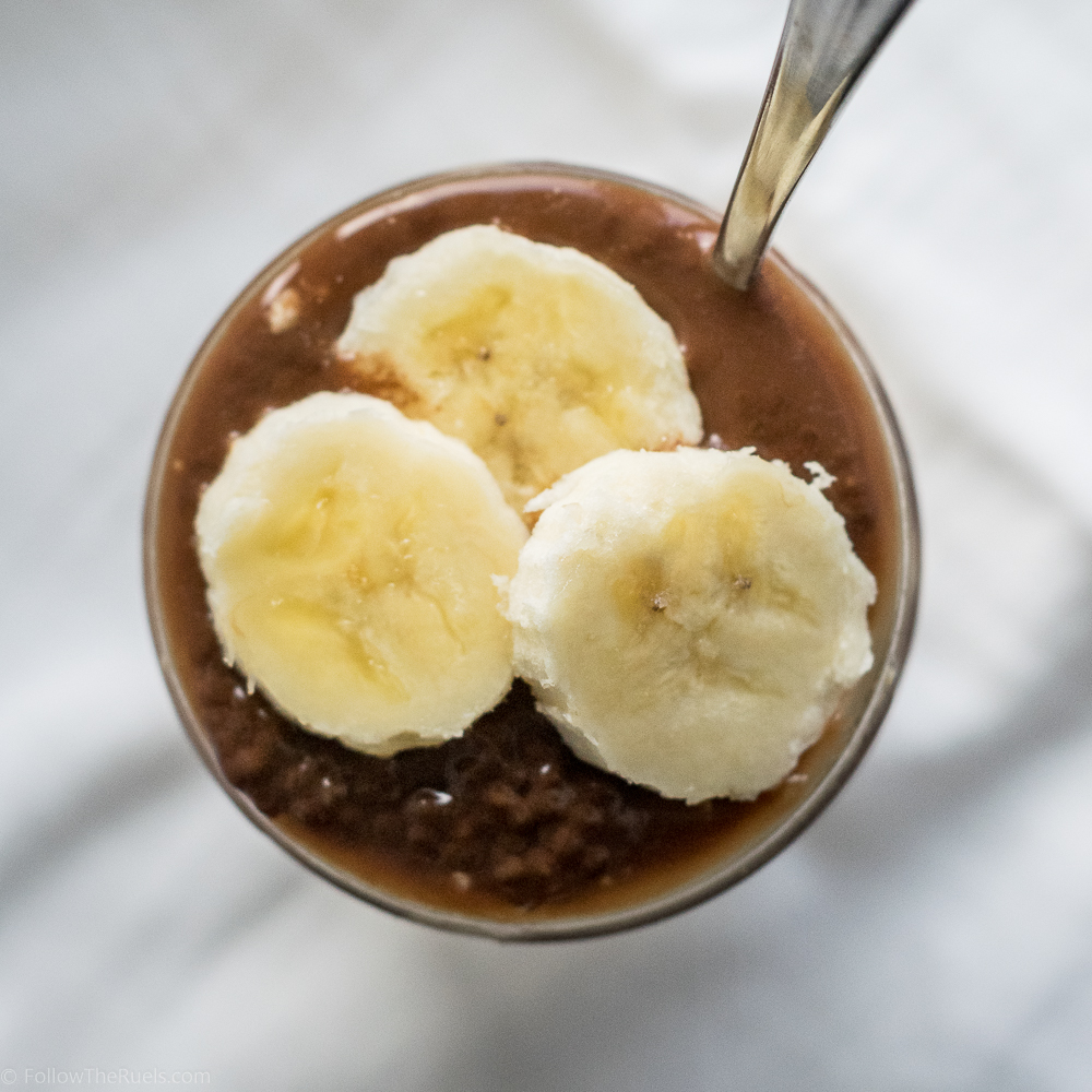 Peanut Butter Overnight Oats with Chocolate Chia Seed Pudding