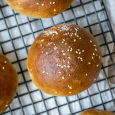 Homemade Whole Wheat Burger Buns