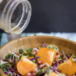 Persimmon and Pomegranate Kale Salad
