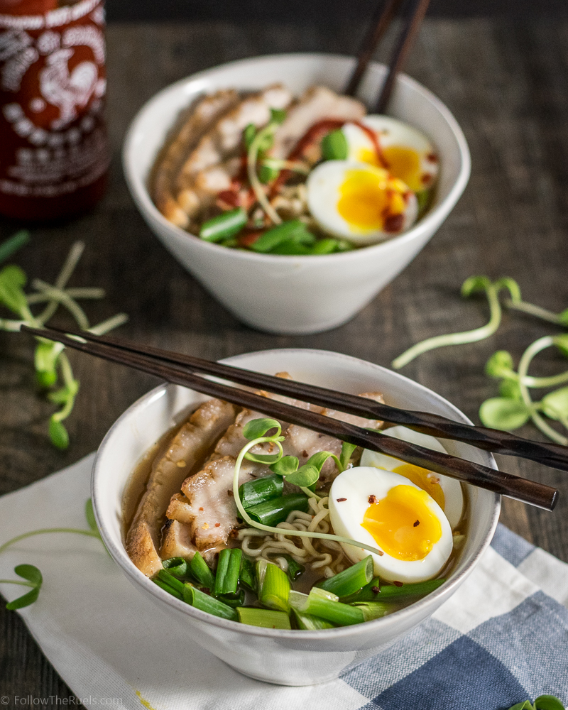 Homemade Pork Belly Ramen Bowl