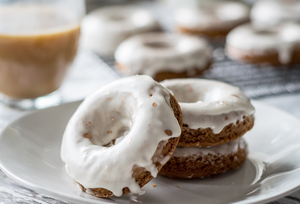 Glazed Gingerbread Donuts