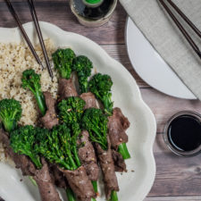 Healthy Beef and Broccoli Rollups