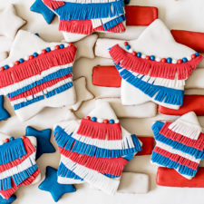 Red White and Blue Fringe Cookies