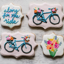 Pretty Bicycle Cookies