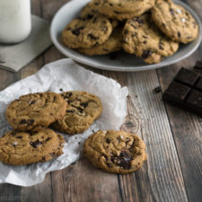 Brown Butter Dark Chocolate Chunk Cookies