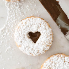 Nutella Linzer Cookies