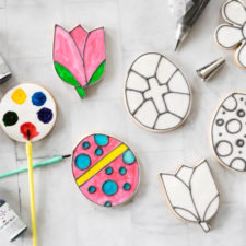 Easy Coloring Book Cookies for Easter