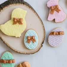 Embossed Fondant Cookies for Easter