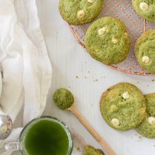 Matcha White Chocolate Chip Cookies