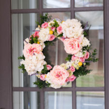 How to Make a Faux Flower Spring Wreath