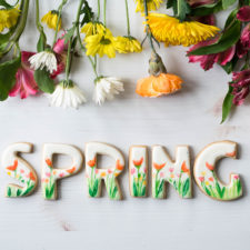 Watercolor Spring Garden Cookies