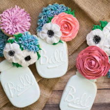 Mason Jar Bouquet Cookies