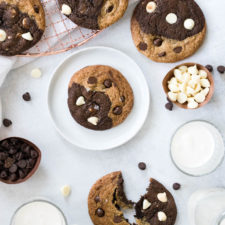 Black and White Double Chocolate Chip Cookies