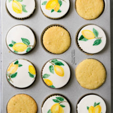 Limoncello Cupcakes with Fondant Topper