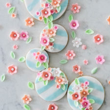 Fondant Flower Sugar Cookies