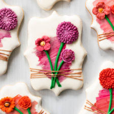 Fondant Flower Stem Cookies