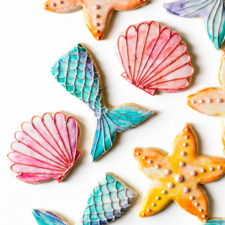 Watercolor Seaside Cookies