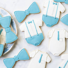 Preppy Onesie Baby Shower Cookies